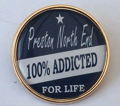 Preston North End 100% Addicted For Life badges