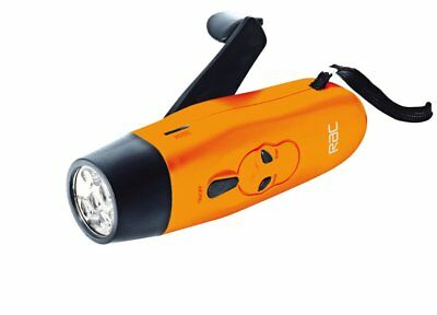 RAC Wind Up LED Torch with FM Radio Rechargeable Speaker Stereo Compact Led New