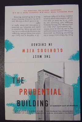 The Prudential Building Brochure ~ Chicago, Illinois ~ Map