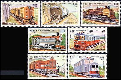 Cambodia Trains Locomotives MNH ** (13)