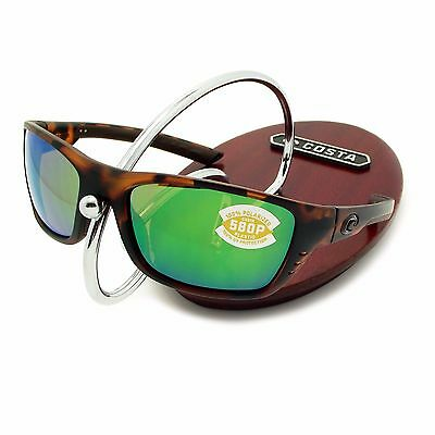 NEW Costa Del Mar WHITETIP Matte Retro Tortoise & 580 Green Mirror Plastic 580P