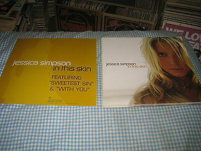JESSICA SIMPSON-(in this skin)-1 POSTER FLAT-2 SIDED-12X12-NMINT-RARE