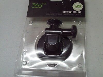 "360fly  Quick Twist Suction Cup Mount 1/4""-20 - 360 Action Camera - Black new e9"