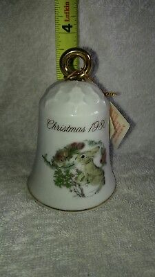 Decorative Collectible Christmas Bell 1980