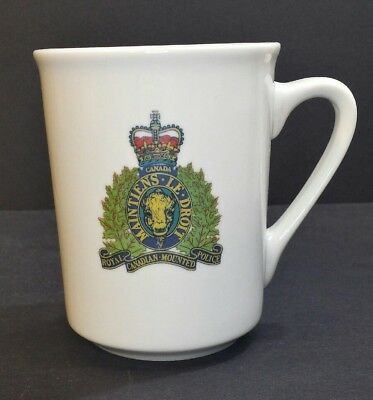 Royal Canadain Mounted Police Insigina Coffee Cup By Imperial