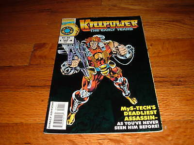 KILLPOWER THE EARLY YEARS #1 MARVEL COMICS UK MYS-TECH Vintage Comic Book old