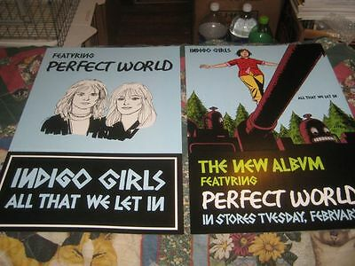 INDIGO GIRLS-(all that we let in)-1 POSTER FLAT-2 SIDED-12X18-NMINT-RARE