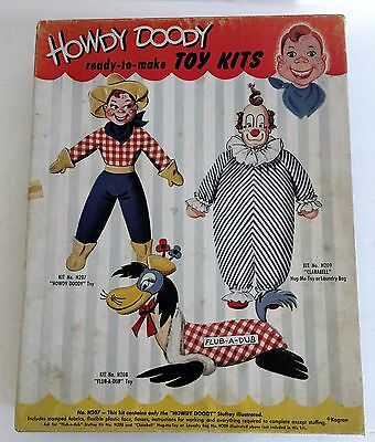 Vintage 1950's HOWDY DOODY Ready to Make Stuffed Toy Kit In Orig Box NIB Kagran
