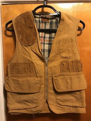 1960s VINTAGE SafTbak Duck Canvas Hunting Vest ~ USA Made