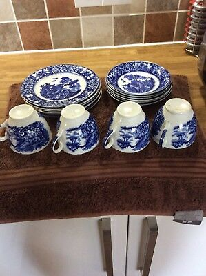Old Willow Pattern Style China