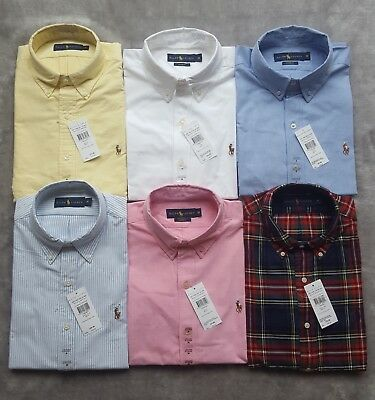 Polo Ralph Lauren Mens Long Sleeve Shirt Custom Fit S M L XL XL BNWT