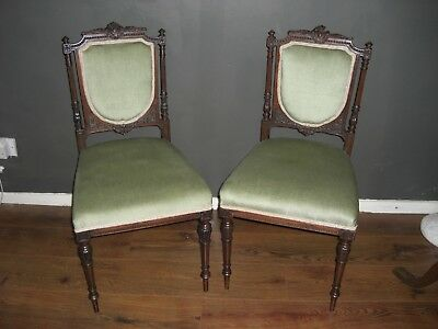 Pair Edwardian Chairs
