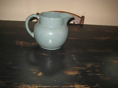 Vintage Bybee Pottery Kentucky Teal Water Milk Ball Pitcher