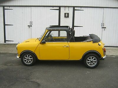 1977 Mini convertible-SUPER-CHARGED- restored rust free example- folding roof
