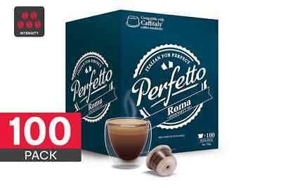 100 Pack Perfetto Caffitaly Compatible Coffee Pods (Roma)