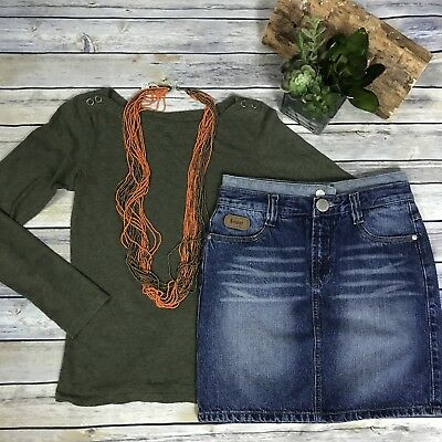 3 pcs size small womens clothing outfit lot Revolution top, sweet jeans skirt -