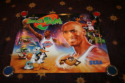 Warner Brothers/Sega Space Jam Pinball Backglass Wall Poster