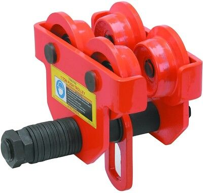 1 Ton Push Beam Trolley Adjustable for I-beam flange width: 2-11/16 to 5-1/8