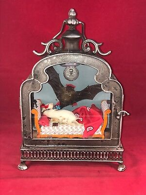 """""""Vampire Attack"""" Taxidermy/Anthropomorphic Bat & Mouse Lighted Display-Dracula"""