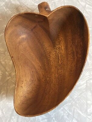 Vintage Monkey Pod Wooden Bowl Pepper Made In Philippines