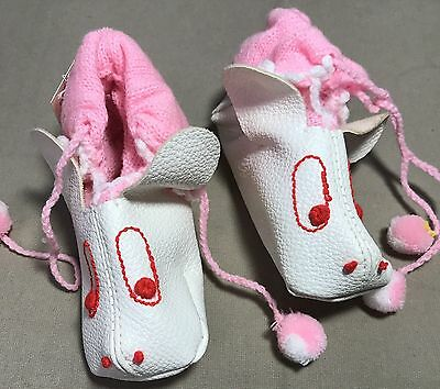 Vtg White Rabbit Space Shoes Baby Size 2 1960s 1970s NWT (B2)
