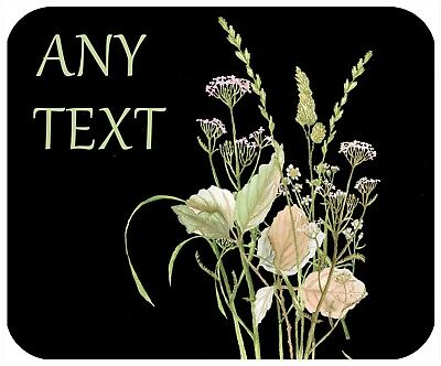 Mouse Pad Custom Thick Mousepad-Wild Herb Bouquet-Personalize With Any Text