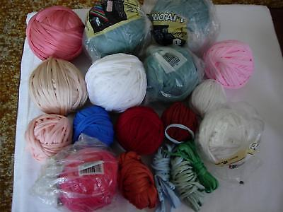 Over 6 Pounds of Nylotex Qualicraft Weaving Cord White,Seafoam,Salmon,Scarlet++