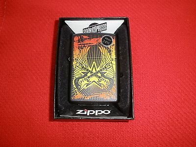 Zippo Whitesnake Crossed Guitars Black Lighter Sealed with Box