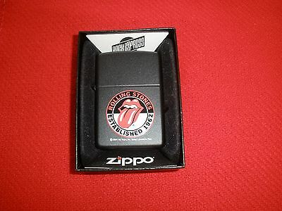 Zippo Rolling Stones Established 1962 Black Lighter Sealed with Box