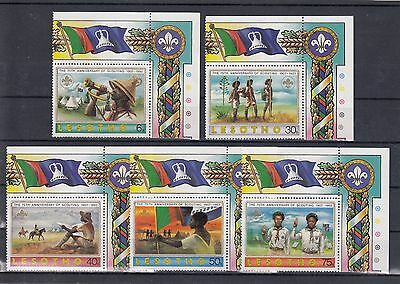 Timbre Stamp  5  Lesotho Y&t#1056-59 Scout Scoutisme Neuf**/mnh-Mint 1982 ~A23