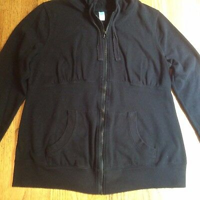 EUC - Old Navy Maternity - Black Zip-Up Hoodie, Size Large