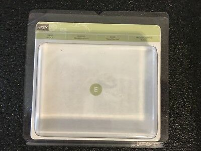 Stampin Up Clear Acrylic Large Stamping Block Size E Mount Handle Tool