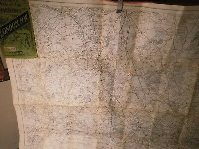 LONDON NORTH WEST-ANTIQUE RAILWAY AND ROAD MAP GEORGE BACON OF STRAND on map of indiana covered bridges, map downtown new london ct, map of pine st, mashapaug lake union ct, map of eastern kentucky cities, map of connecticut, map of maine rivers, map of covered bridges ashtabula county ohio, map of franklin st, map of paul st, map of south st, map of hampton nh, map of uniontown,