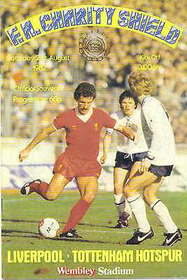 Liverpool Vs Tottenham 1982 Charity Shield Official Football Programme