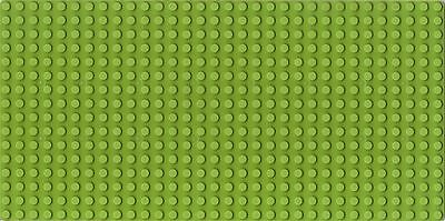 BUILDING BOARD - Lime Green BASE PLATE -16X32 STUDS BASEBOARD LEGO COMPATIBLE