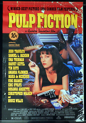 PUL FICTION Original ROLLED Australian one sheet Movie poster Quentin Tarantino