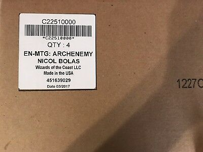 Case of MTG 4X Sealed Archenemy Nicol Bolas Boxes FREE SHIPPING