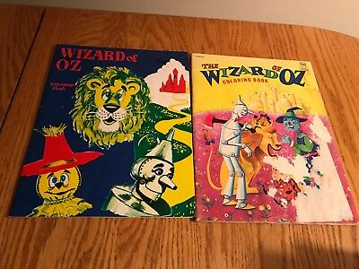 VINTAGE LOT OF 2 THE WIZARD OF OZ COLORING BOOKS+1984+1990 Landoll+WALDMAN AS-IS