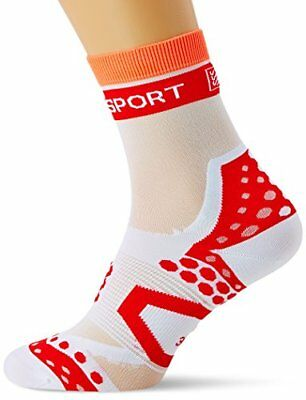 Compressport Racing Ultralight Bike Chaussettes Blanc FR : S (Taille Fabricant :