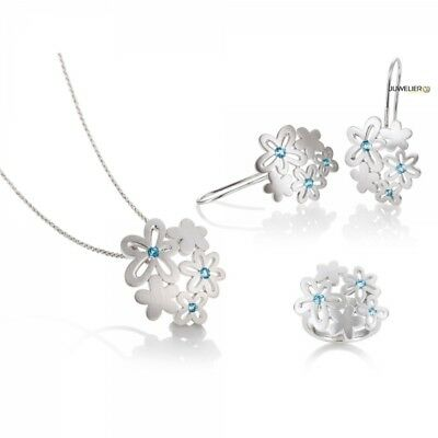 Jewellery Set in 925 Silver with Pure Topaz 98_6022 Made by Breuning
