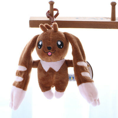 Anime Digital Monster Digimon Adventure Lopmon Plush Soft Doll Keychain Toy
