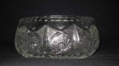 Vintage Heavy Glass Bowl Dish Fruit Candy Thick Rim