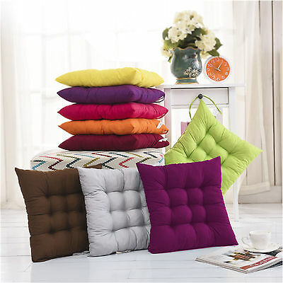 35*35cm Soft Cushions Pad Seat Chair Patio Home Car Sofa Office Square 8 Colors