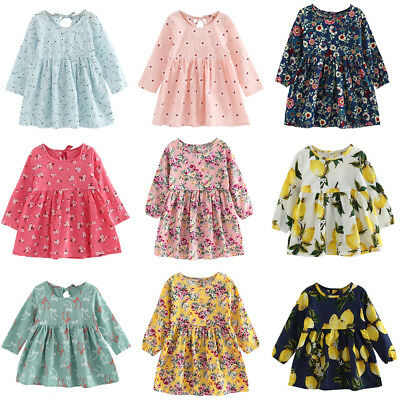 Toddler Baby Girls Dress Long Sleeve Princess Party Pageant Wedding Dress lot