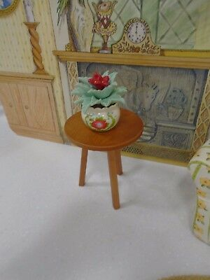 American Girl Angelina Ballerina Living Room Side Table w/Potted Cactus Flower