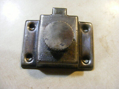 ONE Vtg Old Antique SHABBY Metal HOOSIER Cabinet Cupboard Turn Knob Latch