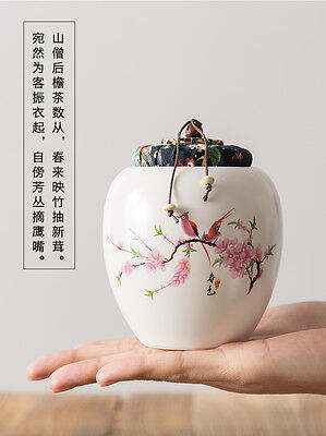 Chinese Painting Ceramic White Chinoiserie Ginger Jar with Removal Lid