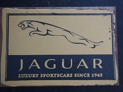 Retro Tin Sign - Jaguar, Luxury Sportscars Since 1945 - 30cm x 20cm
