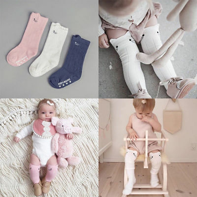 Newborn Infant Baby Boy Girl Knee High Pantyhose Socks Toddler Stockings 0-4Y