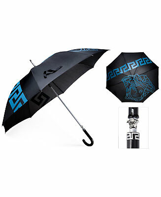 Versace parfums blue black large jumbo  umbrella Medusa Executive logo golf NEW!